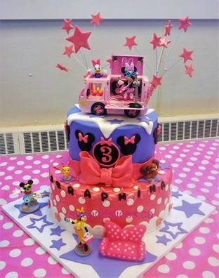 Minnie Mouse Birthday Cake Edmonton Image Inspiration of Cake
